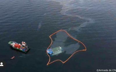 Pronunciamiento de la Fundación Conservación Marina ante el hundimiento en el mar de un pontón salmonero con 20 mil toneladas de alimento y 5 mil litros de petróleo, perteneciente a la empresa Salmones Austral, en el sector de Quillaipe-Piedra Azul, Comuna de Puerto Montt